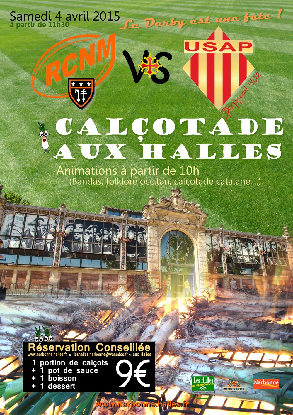 halles narbonne calotade derby rugby rcnm usap occitan visuel